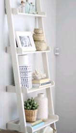 5 tier multifunctional Wooden ladder shelf