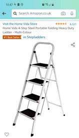 Steel portable ladder