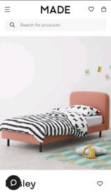 MADE Besley Single Bed, Dusk Pink