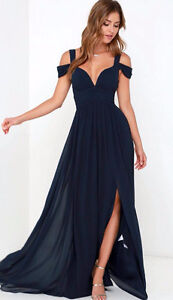 Navy Blue Bariano Gown