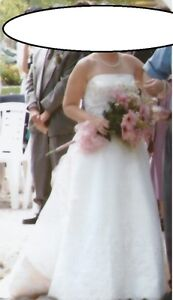 Wedding Dress _ Mon Cheri _ Size 8 - 10 _  Ivory and Rum Pink