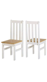 2x brand new pine wood kitchen/dining chairs