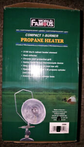 NEW Compact Propane Heater 3100 BTU single burner