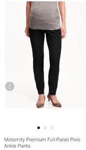 NWOT Old Navy Maternity Full-Panel Ankle Pants - sz 16