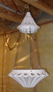 Hanging Ceiling Lamp with a Holder for a Decorative Plant