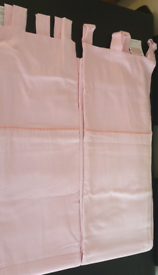 Pink Lined Tabtop Curtains