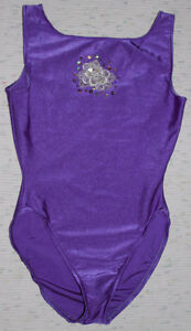 Purple body suit with sequin motif