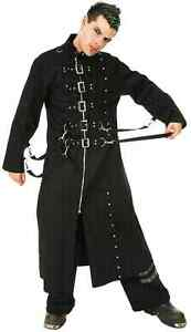 Men's Long Black Trench Gothic Rave Cyber Coat London Ontario image 5