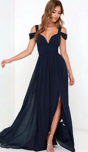 Navy Blue Bariano Gown (Small)