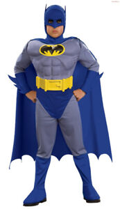 Boys Rubie's Deluxe Batman Muscle Chest Costume size M (5-7)