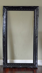 """24"""" x 48"""" - 4 inch Wood Picture Frame - Black"""