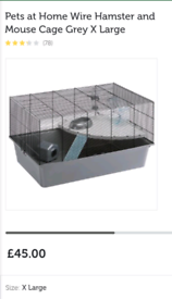 Hamster/mouse/gerbil cage and large bale of bedding