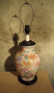 HAND PAINTED JAPANESE STYLE TABLE LAMP & OTHER TABLE LAMPS West Island Greater Montréal image 2