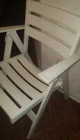 SET OF 4 WHITE chair