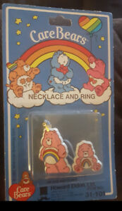 Care Bears Necklace and Ring Vintage Collectible