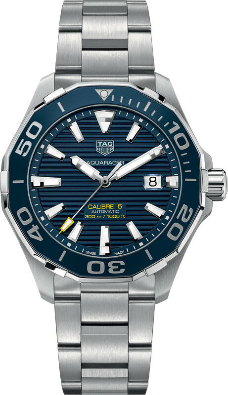 Tag Heuer Aquaracer 43mm Date Automatic Mens Watch WAY201B.BA0927 - watch picture 1