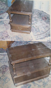 2 end tables with drawers
