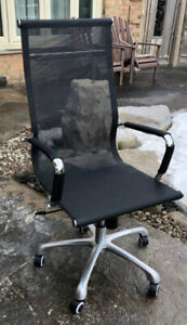 Modern Black Mesh Executive Chair
