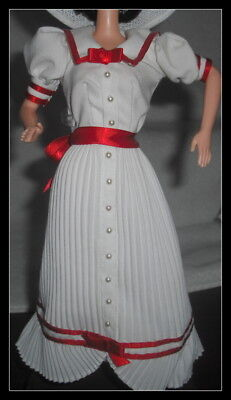DRESS BARBIE DOLL SUMMER DAYDREAMS COCA COLA  WHITE & RED SUN DAY GOWN ACCESSORY