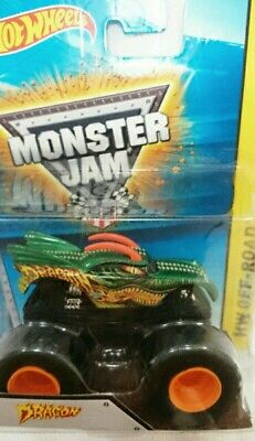 HOT WHEELS MONSTER JAM DRAGON MONSTER TRUCKS DIECAST