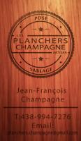 SABLAGE DE PLANCHERS BOIS FRANC BON PRIX  $$$