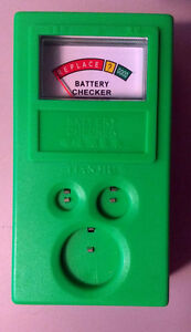 Button cell battery checker (watches, calculators, toys)