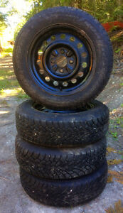 4  Goodyear Nordic Winters on rims, used 2 mo.