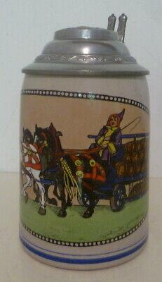 ALT Humpen Bierkrug Münchner Kindl München Bierkutscher HB um 1900 Sammelkrüge  Münchner Bier