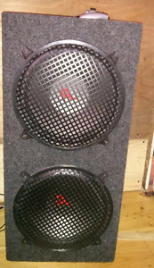 12 inch dual sub enclosed box with hookups