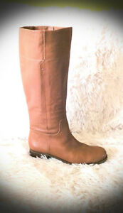 NINE WEST PREMIUM LEATHER LIGHT BROWN/BEIGE BOOTS-SIZE 7.5 - NEW