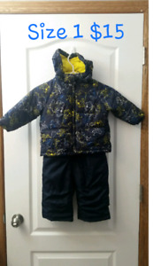 Boys size 1 winter coat and snow pants
