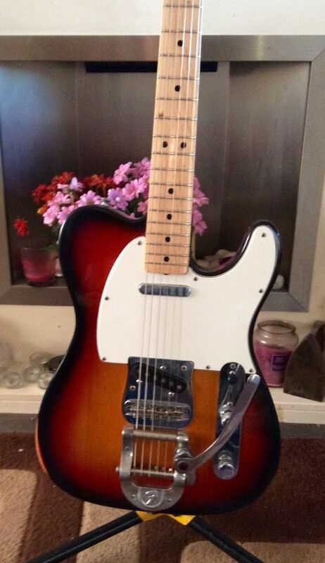 Fender Telecaster 1973 with Bigsbyin Hackney, LondonGumtree - Here is my 1973 Fender Telecaster with factory fitted Bigsby. The guitar is n excellent condition and plays and sounds like a dream. As you can see there is wear on the edges but its all honest wear and tear due to being used. Its all original apart...