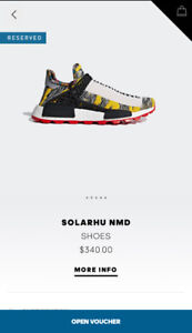 ADIDAS NMD HU PHARRELL SOLAR PACK RED SIZE 13 DS
