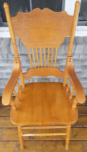 Pressed-back kitchen chair