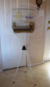 Small bird cage with stand hanger