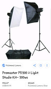 Photographer studio set up