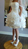 Wedding Dress and accessories Veil,Jewled belt,Flower hair clip