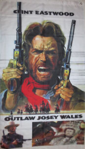 Clint Eastwood Western Banner Flag's