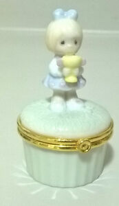 Precious Moments 2000 Porcelain Trinket Box Girl With Cup