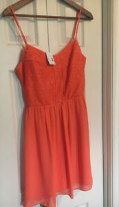 Beautiful Coral Dress (never been worn)