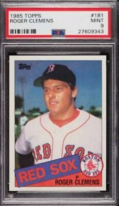 ROGER CLEMENS .... 1985 Topps .... ROOKIE CARD .... PSA MINT 9