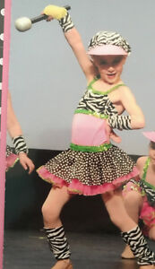 dance costume zebra