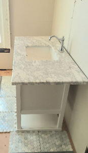 "49"" MARBLE VANITY TOP TO TRADE OR 37"""