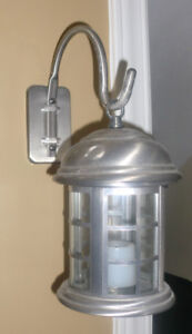 Home decor , stand alone or hang Battery lantern