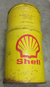 Vintage large SHELL Grease or oil can Cornwall Ontario image 1