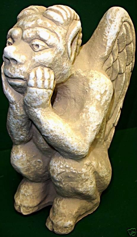 Sitting Squatter Gargoyle Statue Gothic Art Sculpture