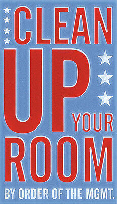 Clean Up Your Room by John W. Golden Art Print Poster Child Children Decor 11x14