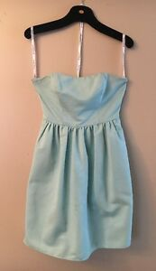 Beautiful Blue/Green David's Bridal Cocktail Dress | Size 6