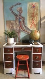 Refinished Solid Wood Desk