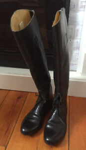 Exceptional Der Dau Custom-Made Leather English Field Boots